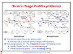 service usage profiles patterns