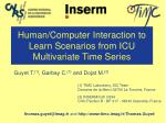 human computer interaction to learn scenarios from icu multivariate time series