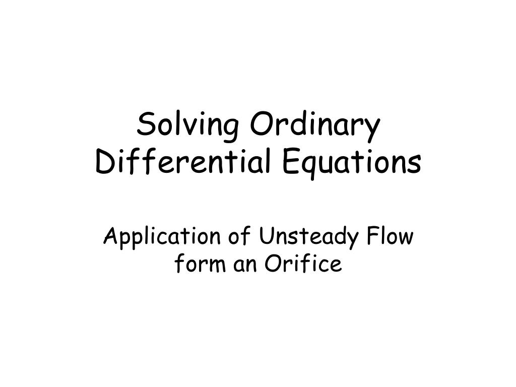 Ppt Solving Ordinary Differential Equations Powerpoint Solve This Second Order Equation For A Rlc Series Circuit N