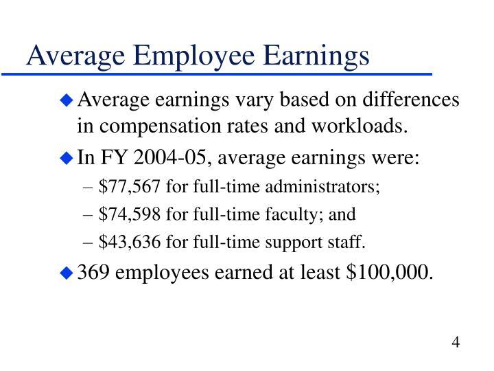 Average Employee Earnings