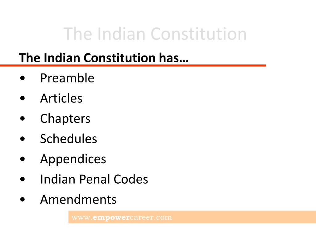 Ppt The Indian Constitution Powerpoint Presentation Free Download Id 4862459