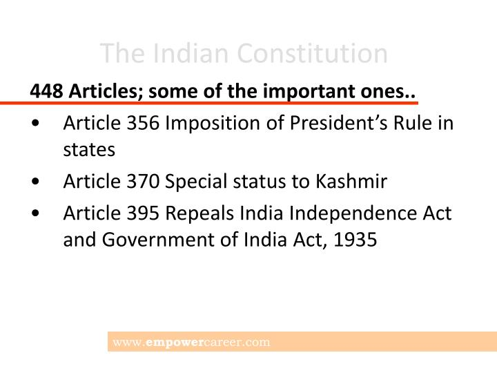 article 356 of indian constitution