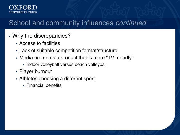 School and community influences