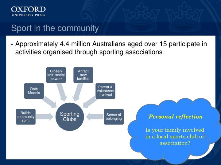 Sport in the community
