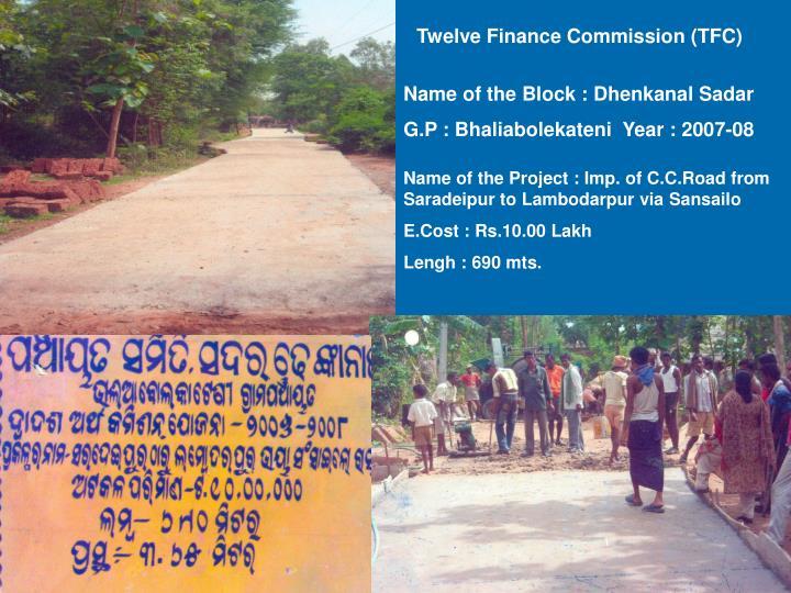 Twelve Finance Commission (TFC)