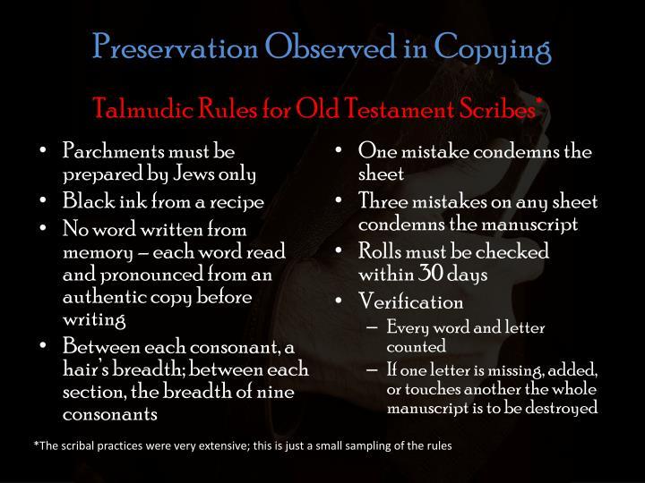 Preservation Observed in Copying