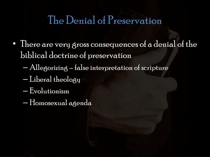 The Denial of Preservation