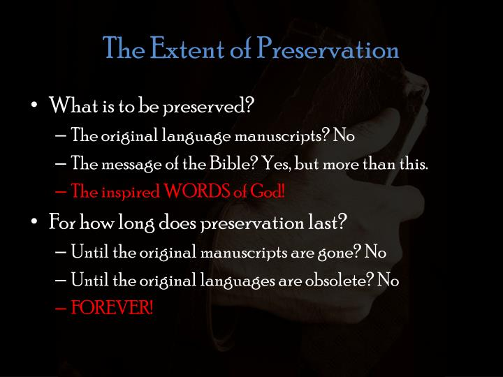 The Extent of Preservation