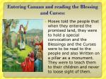 entering canaan and reading the blessing and curses
