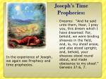 joseph s time prophecies