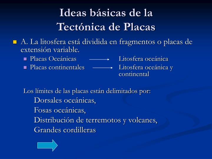 Ideas básicas de la