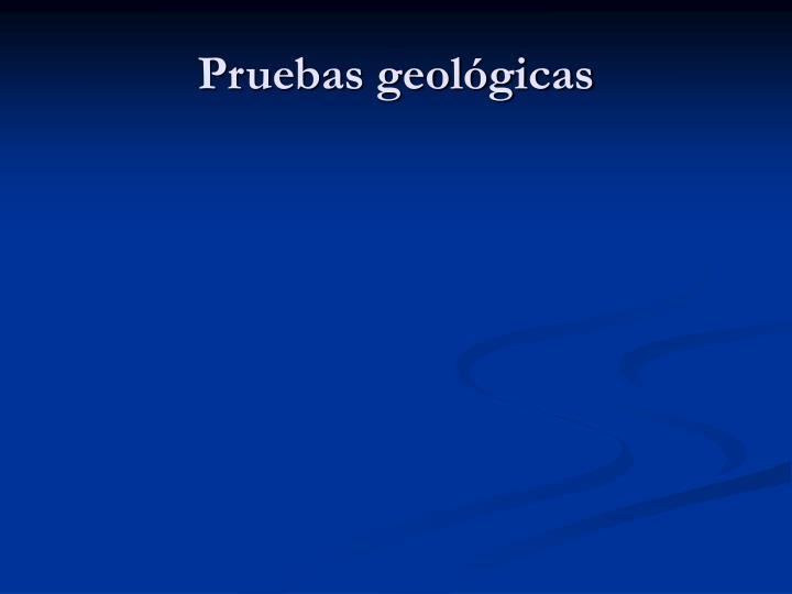 Pruebas geológicas