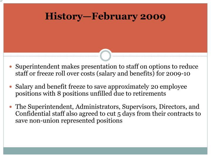 History—February 2009