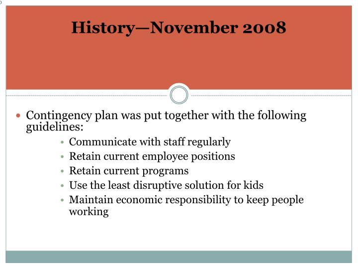 History—November 2008