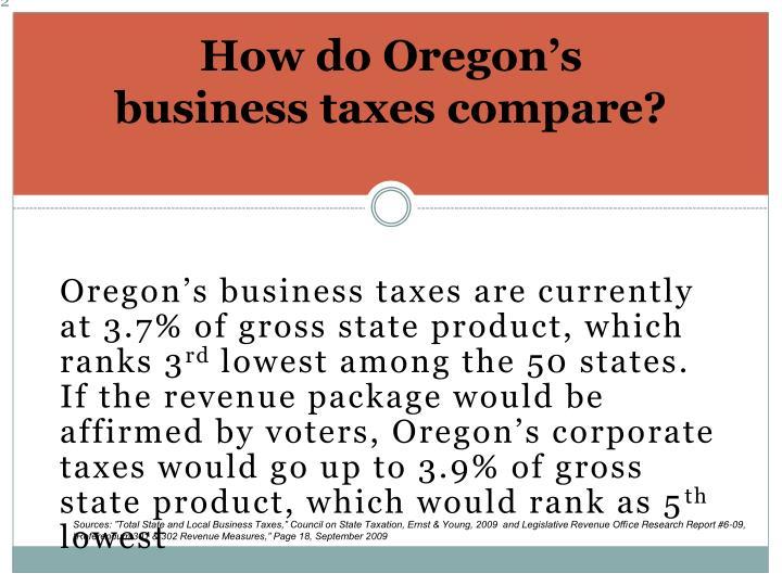 How do Oregon's