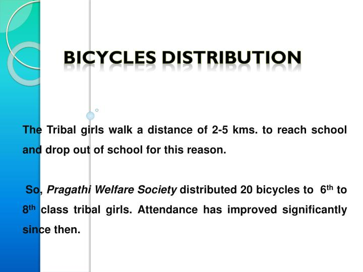 The Tribal girls walk a distance of 2-5
