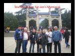 tourists at sun yat sen s memorial