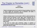 the chapter on remedies cont