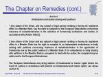 the chapter on remedies cont2