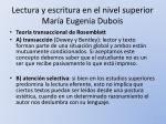 lectura y escritura en el nivel superior mar a eugenia dubois