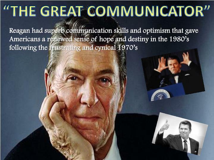 """THE GREAT COMMUNICATOR"""