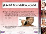 a solid foundation cont d