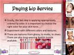 paying lip service