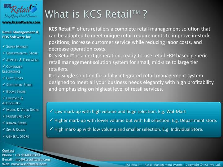 What is KCS Retail™ ?