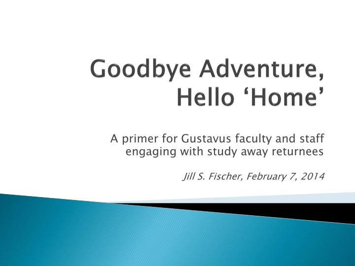 goodbye adventure hello home n.