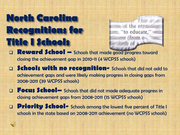 North Carolina Recognitions for
