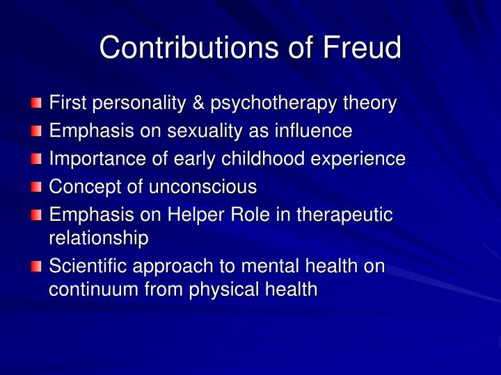 Contributions of Freud