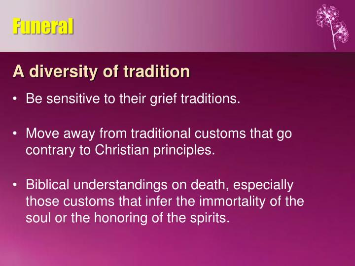 A diversity of tradition