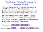 the channel sharing technique for multiple movies