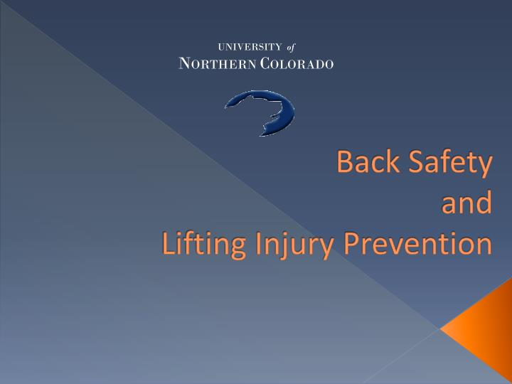back safety and lifting injury prevention n.