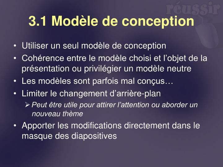 3.1 Modèle de conception