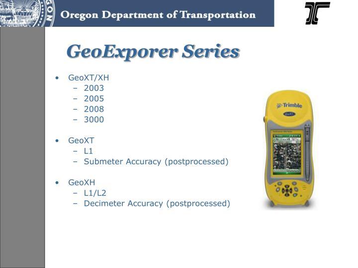 Geoexporer series