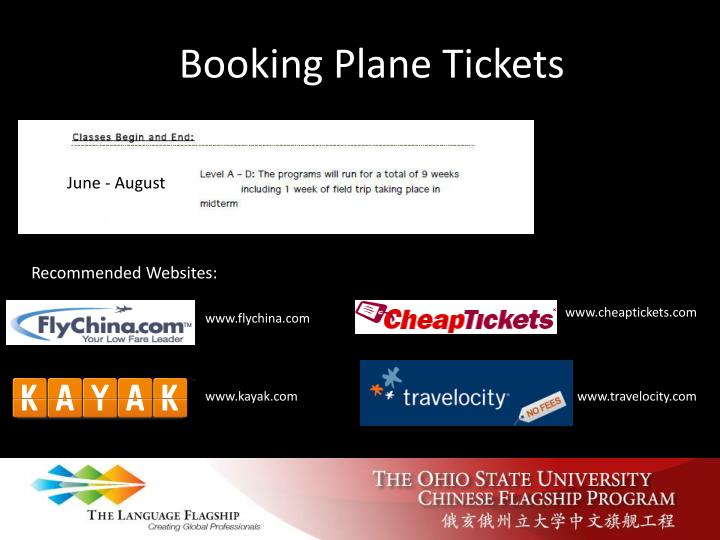 Booking Plane Tickets