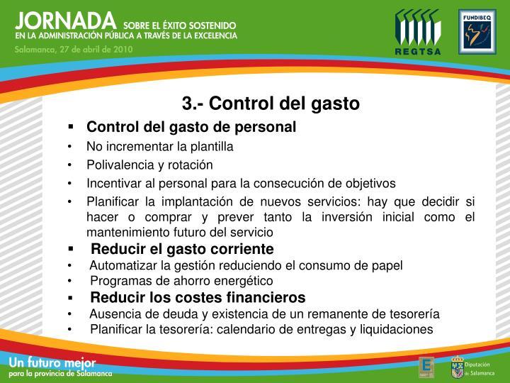3.- Control del gasto