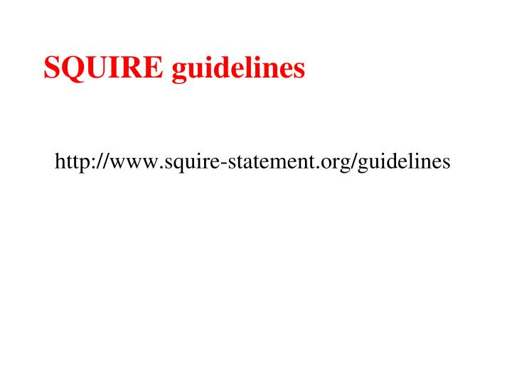 SQUIRE guidelines