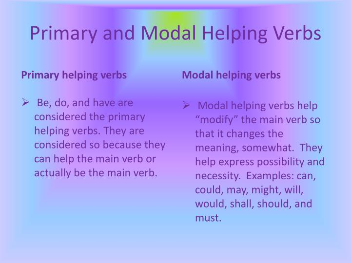 Primary and Modal
