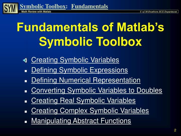 Ppt Symbolic Math Toolbox Powerpoint Presentation Id4864578