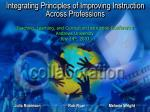 integrating principles of improving instruction across professions