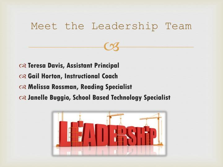 Meet the leadership team