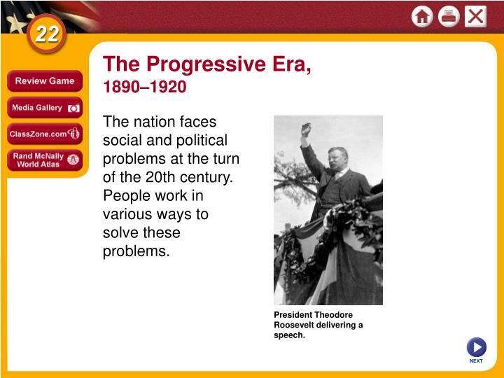an overview of the progressive movement that started at the turn of the 20th century The goals of the progressive movement were to try to and solve problems a bus started the garvey in the early 20th century which aimed to help.