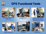 gps functional tests