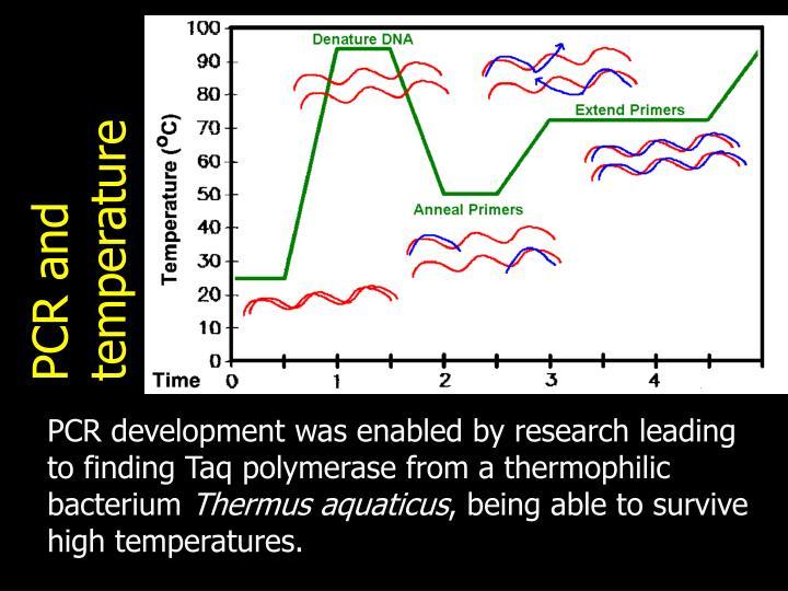 PCR and temperature
