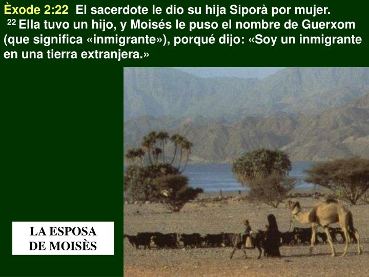 Èxode 2:22