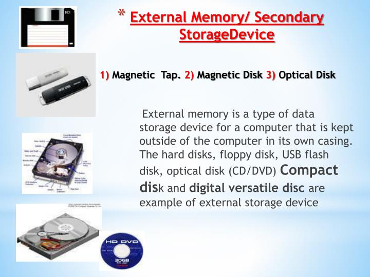 Ppt Computer Memory Storage Device Powerpoint
