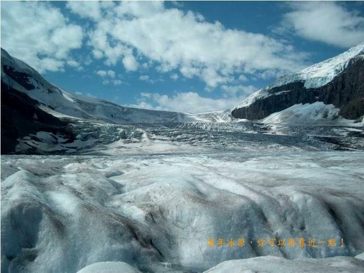 萬年冰原,你可以再靠近一點!