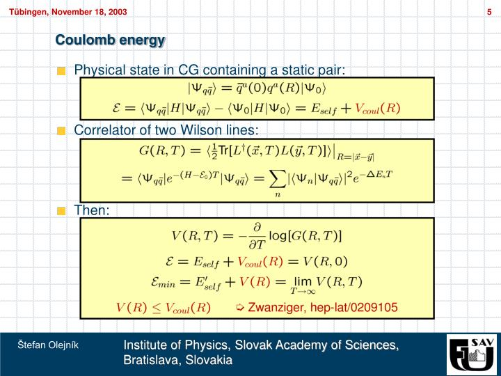 Coulomb energy
